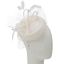 Buy John Lewis Danni Pillbox Hat Fascinator, White Online at johnlewis.com