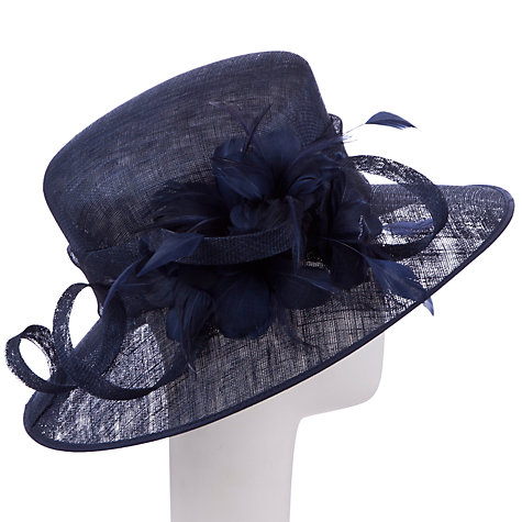 Buy John Lewis Ash East to West Hat Occasion Hat, Navy Online at johnlewis.com