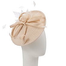 Buy John Lewis Beth Braid Disc Hat Fascinator, Natural Online at johnlewis.com