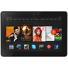 "Buy Amazon Kindle Fire HDX 8.9 Tablet, Qualcomm Snapdragon, Fire OS, 8.9"", Wi-Fi & 4G LTE, 64GB, Black Online at johnlewis.com"