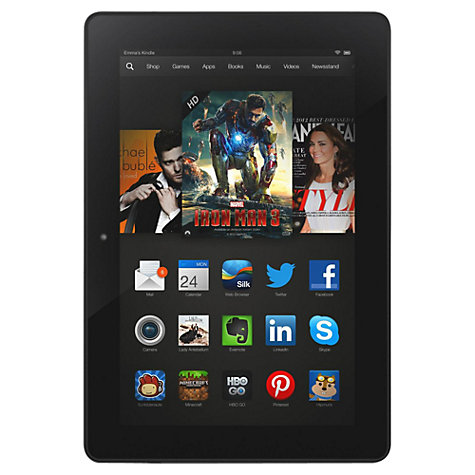 "Buy Amazon Kindle Fire HDX 8.9 Tablet, Qualcomm Snapdragon, Fire OS, 8.9"", Wi-Fi, 16GB, Black Online at johnlewis.com"