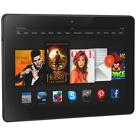 "Buy Amazon Kindle Fire HDX 8.9 Tablet, Qualcomm Snapdragon, Fire OS, 8.9"", Wi-Fi & 4G LTE, 16GB, Black Online at johnlewis.com"