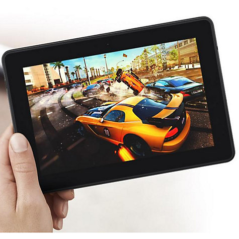 "Buy Amazon Kindle Fire HDX Tablet, Qualcomm Snapdragon, Fire OS, 7"", Wi-Fi & 4G LTE, 16GB, Black Online at johnlewis.com"