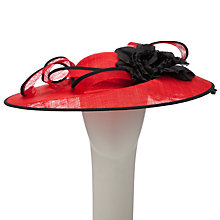Buy John Lewis Sam Occasion Hat, Red / Black Online at johnlewis.com