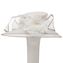 Buy John Lewis Bee East / West Downbrim Occasion Hat, Oyster Online at johnlewis.com
