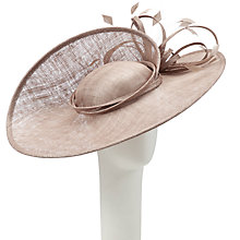 Buy John Lewis Jenna Upturned Large Disc Fascinator Online at johnlewis.com