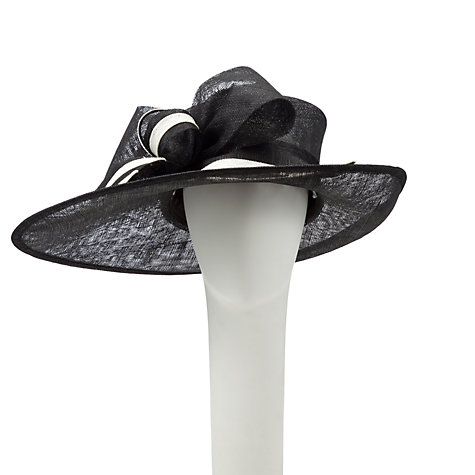 Buy John Lewis Oli Side Up Wide Brim Hat, Black/Ivory Online at johnlewis.com