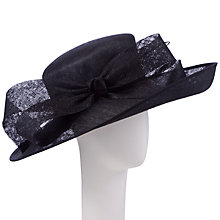 Buy John Lewis Cally Side Up with Bow Occasion Hat, Black Online at johnlewis.com