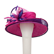 Buy John Lewis Belle Double Brim Occasion Hat, Pink/Purple Online at johnlewis.com