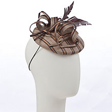Buy John Lewis Jane Flat Pillbox Hat, Brown Online at johnlewis.com