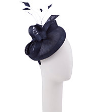 Buy John Lewis Cat Round Pillbox Hat Fascinator, Navy Online at johnlewis.com