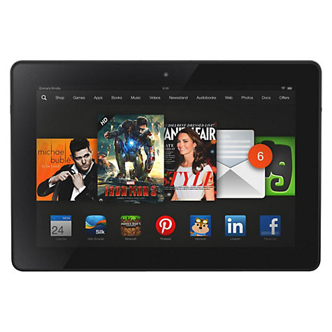 "Buy Amazon Kindle Fire HDX 8.9 Tablet, Qualcomm Snapdragon, Fire OS, 8.9"", Wi-Fi, 64GB, Black Online at johnlewis.com"