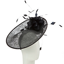 Buy John Lewis Rae Medium Oval Disc Floral Corsage Fascinator, Black Online at johnlewis.com