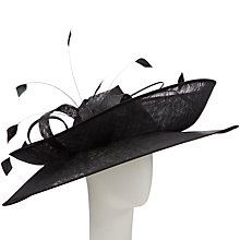 Buy John Lewis Macy Double Brim Disc Fascinator, Black Online at johnlewis.com
