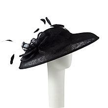 Buy John Lewis Alana Down Brim Hat Fascinator, Black Online at johnlewis.com