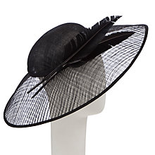 Buy John Lewis Ann Window Disc Hat Fascinator, Black Online at johnlewis.com
