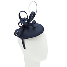 Buy John Lewis Kiki Shantung Pillbox Hat Fascinator, Navy Online at johnlewis.com