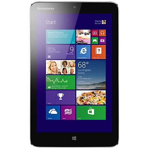"Buy Lenovo Miix 2 Tablet, Intel Atom, Windows 8.1 & Microsoft Office 2013, 8"", Wi-Fi, 32GB, Silver Online at johnlewis.com"