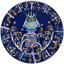 Buy Iittala Blue Taika Dinner Plate, Dia.27cm Online at johnlewis.com