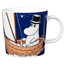 Buy Finland Arabia Moominpappa Mug, 0.3L, Blue Online at johnlewis.com