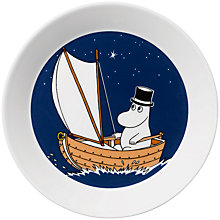 Buy Finland Arabia Moominpappa Plate, Blue Online at johnlewis.com