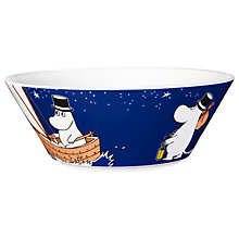 Buy Finland Arabia Moominpappa Bowl, Blue Online at johnlewis.com