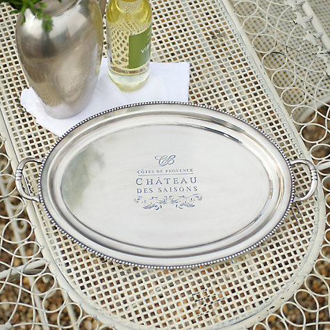 Buy Culinary Concepts Côtes de Provence Beaded Edge Round Tray Online at johnlewis.com