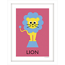 Buy Lucy Begent - Lion Framed Print, 43 x 33cm Online at johnlewis.com