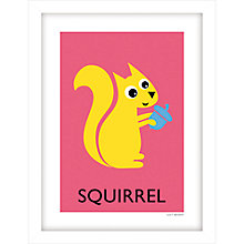 Buy Lucy Begent - Squirrel Framed Print, 43 x 33cm Online at johnlewis.com