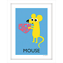 Buy Lucy Begent - Mouse Framed Print, 43 x 33cm Online at johnlewis.com