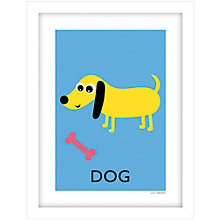 Buy Lucy Begent - Dog Framed Print, 43 x 33cm Online at johnlewis.com