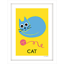 Buy Lucy Begent - Cat Framed Print, 43 x 33cm Online at johnlewis.com