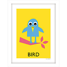 Buy Lucy Begent - Bird Framed Print, 43 x 33cm Online at johnlewis.com