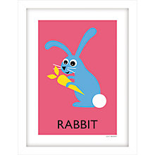 Buy Lucy Begent - Rabbit Framed Print, 43 x 33cm Online at johnlewis.com