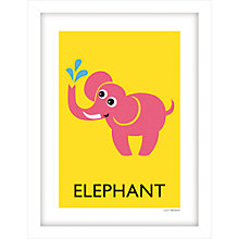 Buy Lucy Begent - Elephant Framed Print, 43 x 33cm Online at johnlewis.com