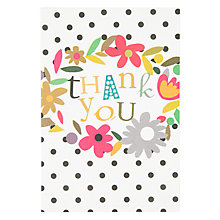 Buy Caroline Gardner Floral Thank You Notecards, Pack of 10 Online at johnlewis.com