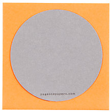 Buy Circular Cards, Orange, Small, Pack Of 8 Online at johnlewis.com