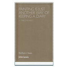 "Buy Intervino Personalised Engraved Glass Sandwich Photo Frame, Portrait, 4 x 6"" (10 x 15cm) Online at johnlewis.com"