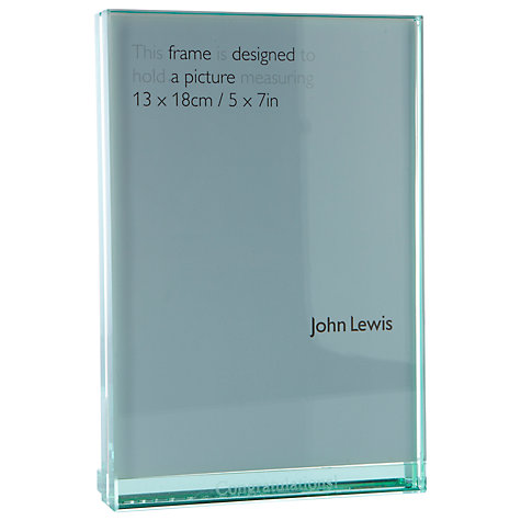 "Buy Intervino Personalised Engraved Glass Sandwich Photo Frame, Portrait, 5 x 7"" (13 x 18cm) Online at johnlewis.com"