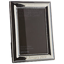 "Buy Intervino Personalised Engraved Aldburgh Photo Frame, Silver Plated, 4 x 6"" (10 x 15cm) Online at johnlewis.com"