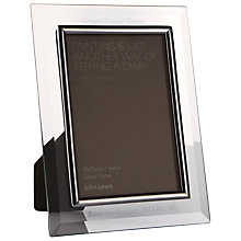 "Buy Intervino Personalised Engraved Glass Border Photo Frame, 4 x 6"" (10 x 15cm) Online at johnlewis.com"