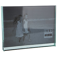 "Buy Intervino Personalised Engraved Glass Sandwich Frame, Landscape, 5 x 7"" (13 x 18cm) Online at johnlewis.com"
