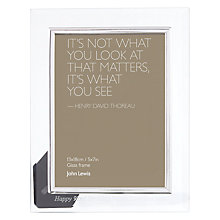 "Buy Intervino Personalised Engraved Glass Border Photo Frame, 5 x 7"" (13 x 18cm) Online at johnlewis.com"