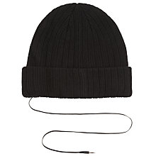 Buy Bunkerbound iMusic Knitted Hat, One Size, Black Online at johnlewis.com