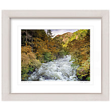Buy Mike Shepherd - River in Spate Framed Print, 57 x 67cm Online at johnlewis.com