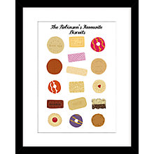 Buy Loveday Designs Personalised Favourite Biscuits Framed Print, 50 x 40cm Online at johnlewis.com