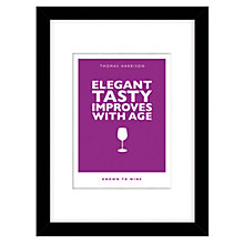 Buy Loveday Designs Personalised Improves with Age Framed Print, 40 x 30cm Online at johnlewis.com