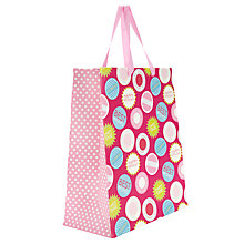 Buy John Lewis Birthday Gift Bag, Pink, Medium Online at johnlewis.com