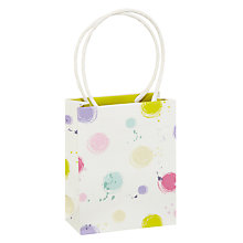 Buy John Lewis Spring Spot Mini Gift Bag, Multi Online at johnlewis.com