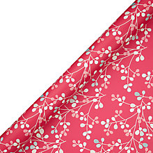 Buy John Lewis Berry Print Wrapping Paper, Pink, L3m Online at johnlewis.com